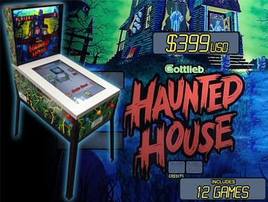 Haunted House 3D Digital Pinball with 12 Gottlieb Pinball Tables