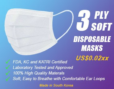 3 Ply Face Masks Available for Container Orders