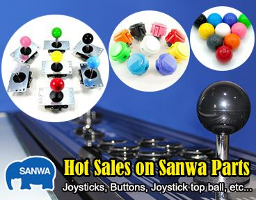 Hot Sales on Sanwa Joysticks and Buttons