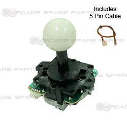 Sanwa Parts JLF-TP-8Y-SK-W Joystick