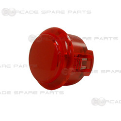 Sanwa Button OBSC-30-R (Clear Red)