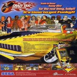 Crazy Taxi High Roller PCB Gameboard