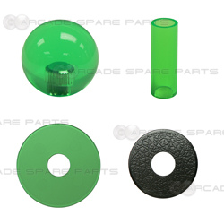 Sanwa Shaft Cover, Dustwasher and Ball Top JLF-CD-CG + LB-35-CG (Clear Green)