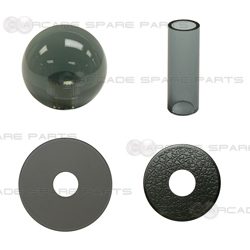 Sanwa Parts JLF-CD-CS + LB-35-CS Sanwa Shaft Cover, Dustwasher and Ball Top