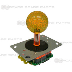 Yellow Illuminated Joystick for Fishing Game Machine